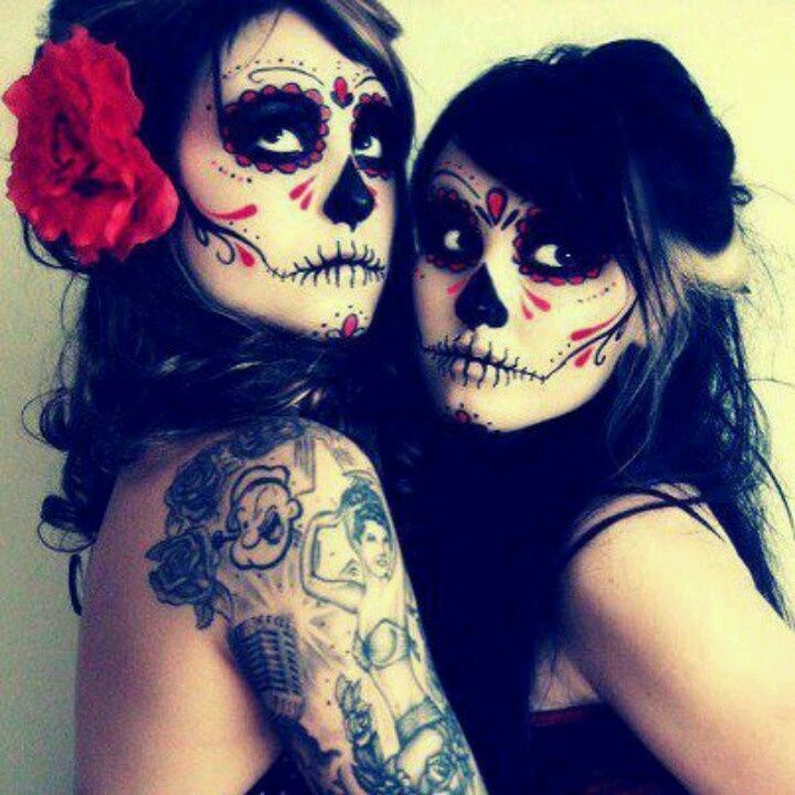 day of the dead face paint cool halloween thing if your staying home passing out - Halloween Day Of The Dead Face Paint