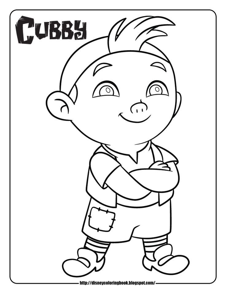 jake and the neverland pirates free printable coloring pages az - Jake Neverland Coloring Pages
