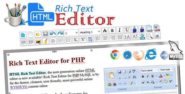HTML Rich Text Editor (PHP/MySQL) | Scripts | Text editor, Html
