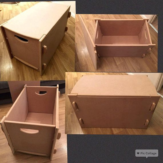 wooden toy box storage unit craft slot together NO by craftyme2016 - küche team 7