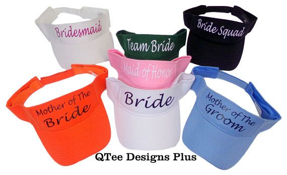 47c06bb6a44dae Personalize your bridal bachelorette party with custom made visors.  #bachelorettevisors #bridalshowerhats #bachelrettepartyhats  #bachelorettepartyvisors ...