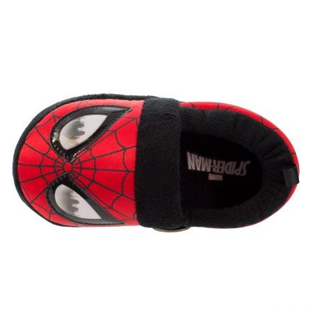 NEW Toddler Boys/' Spiderman Slippers 5-6 Red Black Child/'s Marvel