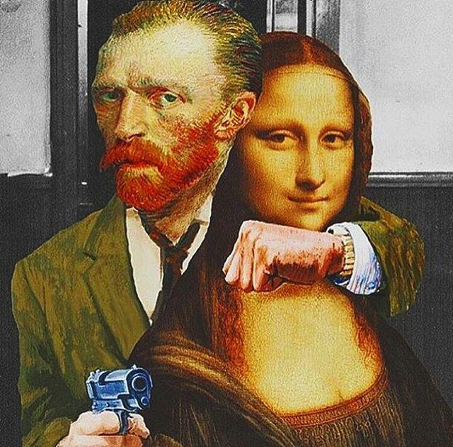 Pop art  #vincentvangogh #monalisa #leonardodavinci