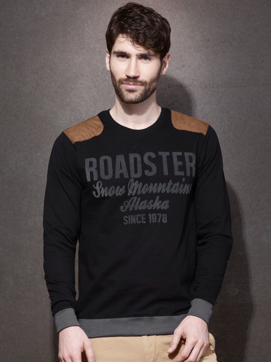 5a470449 Roadster Printed Men's Round Neck T-Shirt | Men T-shirts | Men, T ...
