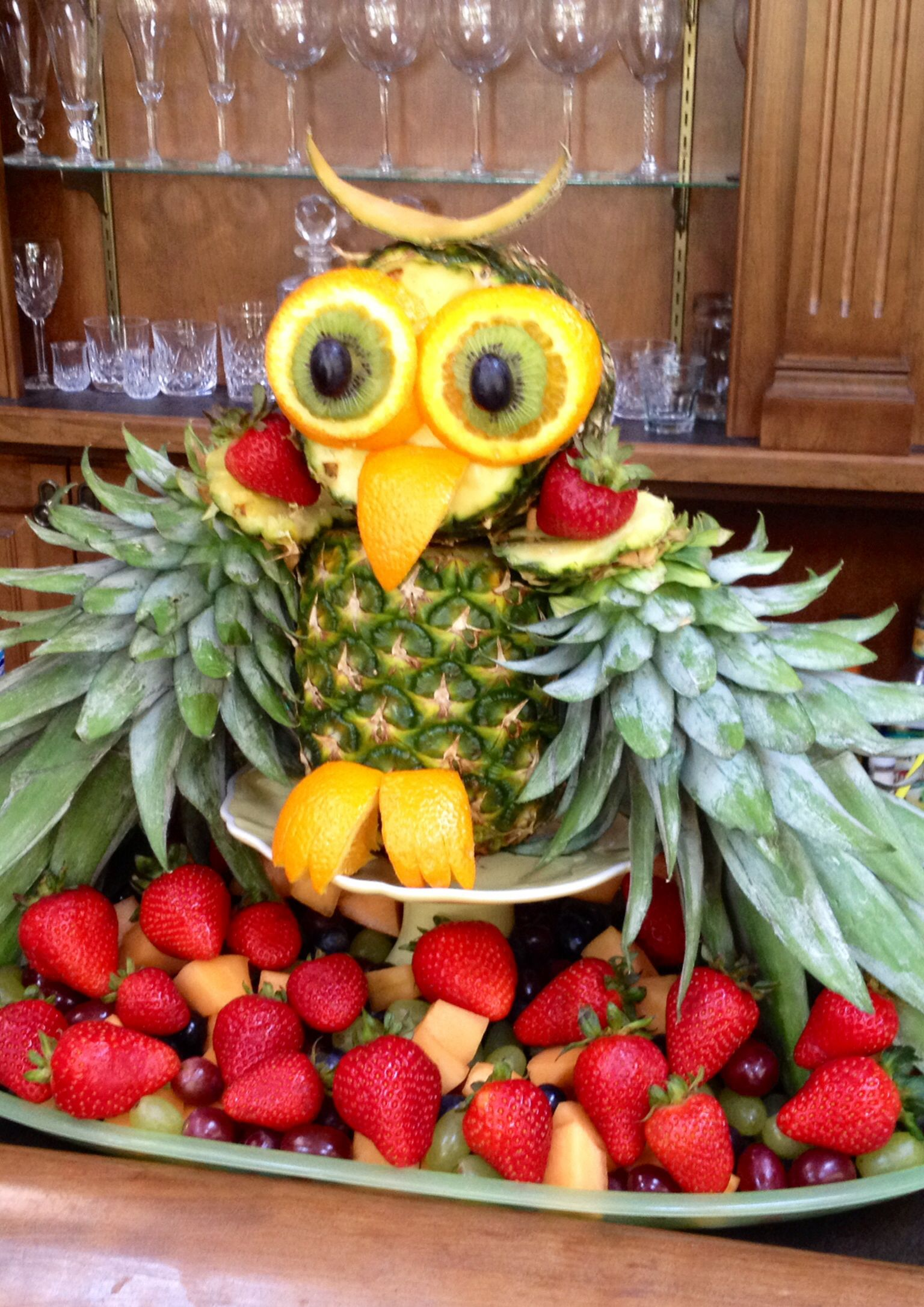 My Pineapple Owl for an owl themed baby shower