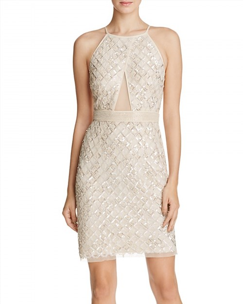 219.00$  Buy now - http://vitte.justgood.pw/vig/item.php?t=p3o2ou24389 - Aidan Mattox Beaded Illusion Inset Cocktail Dress