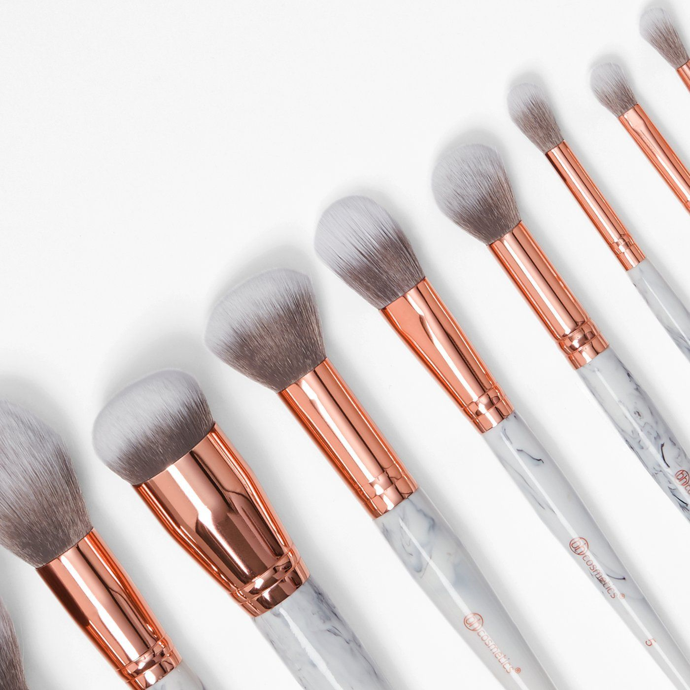 New Bh Cosmetics Marble Luxe 10 Piece Brush Set Bh Cosmetics Llc Skincaresecretsmakeup In 2020 How To Clean Makeup Brushes Makeup Brushes Clean Makeup