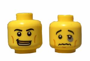 Dark Gray LEGO STAR WARS Head Alien with Shahan Alama Pattern Minifig