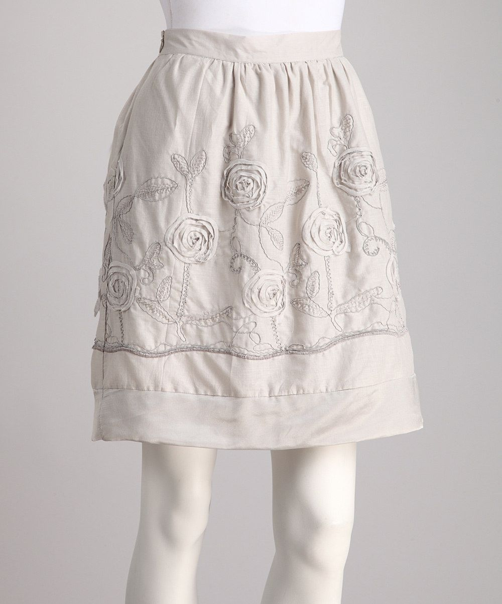 Cloud Embroidered Skirt- I like the embellishment but the color is kind of blah.