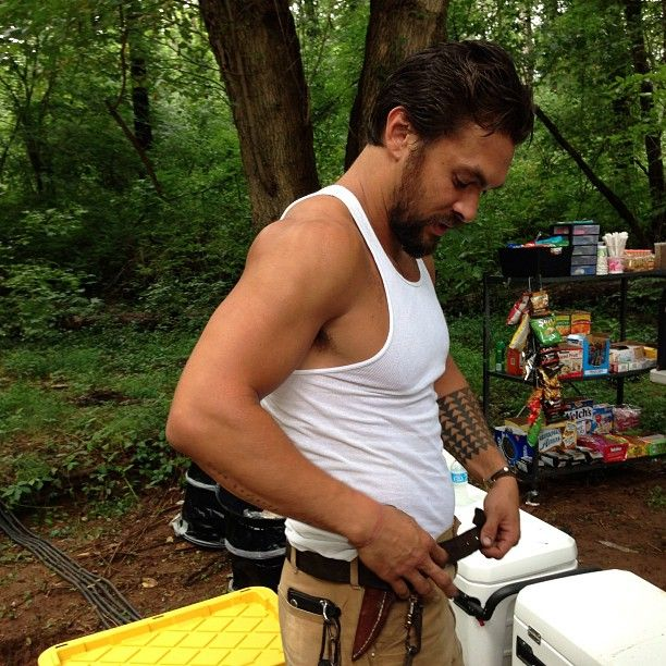 Jason Momoa On Set Of The Red Road