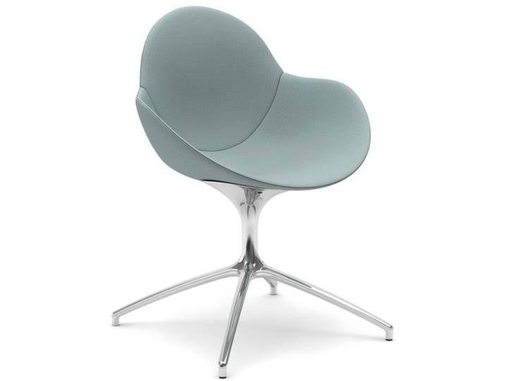 infiniti COOKIE Swivel gepolsterter Designer-Stuhl AL31 Schwarz matt /
