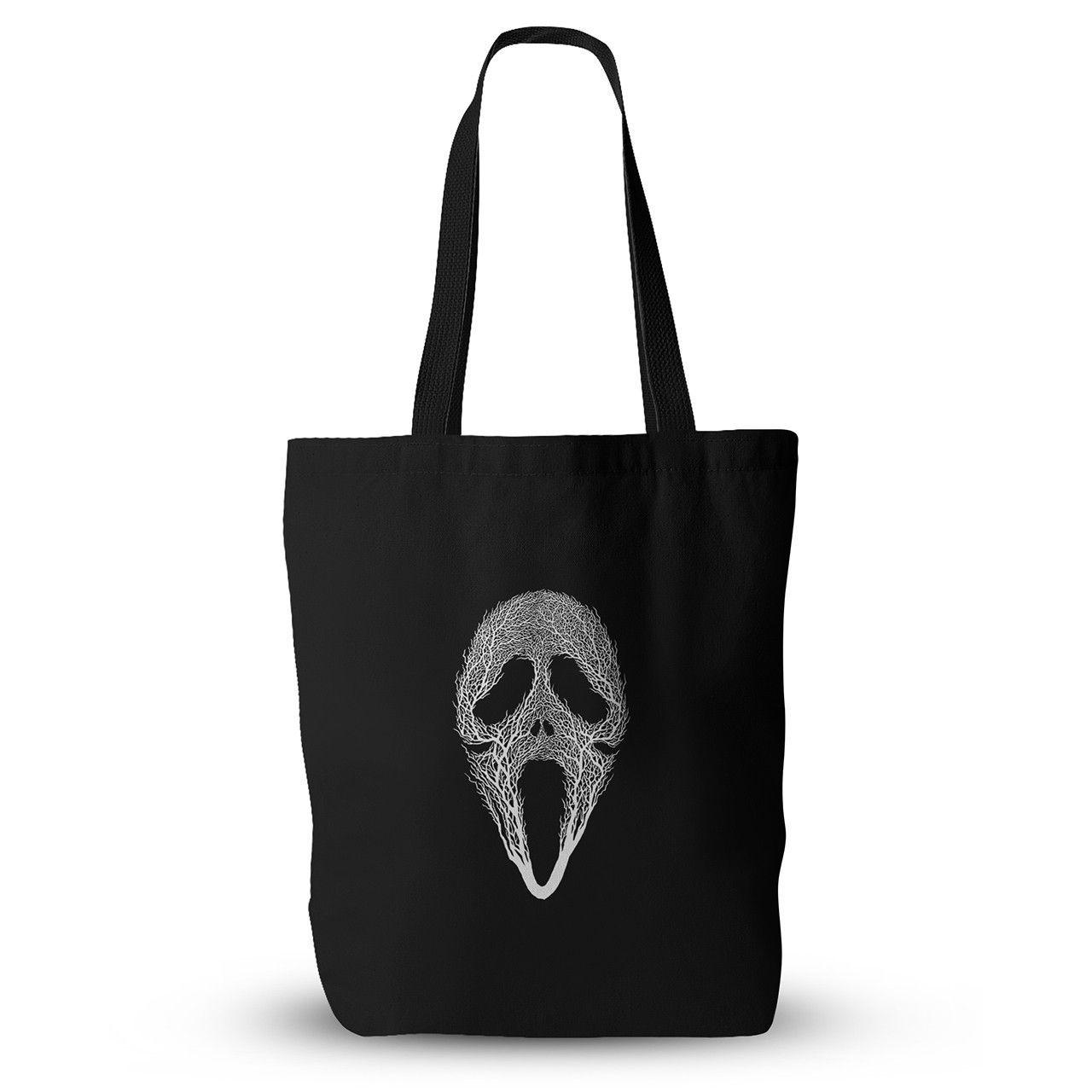 "BarmalisiRTB ""The Scream Tree"" Black White Everything Tote Bag"