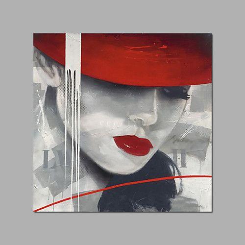 Peinture à l'huile Hang-peint Peint à la main – Personnage Moderne Inclure cad…