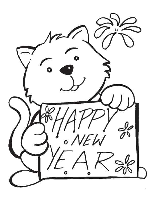 Happy New Year 2018 Drawing Pictures