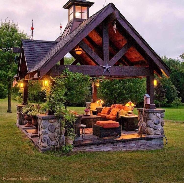a beautiful gazebo on your backyard