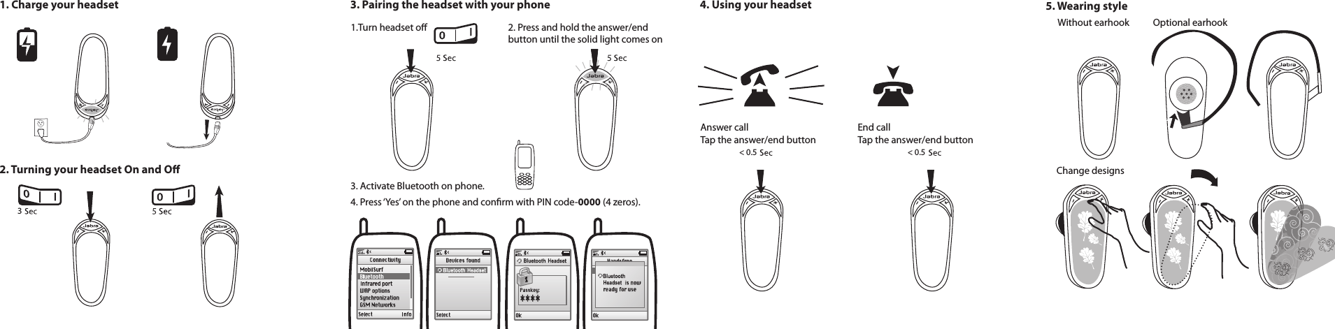 Jabra Ote1 Bluetooth Headset User Manual 2 Details For Fcc Id Bce Ote1 Made By Gn Netcom Inc Document Includes User Man User Manual Bluetooth Headset Headset