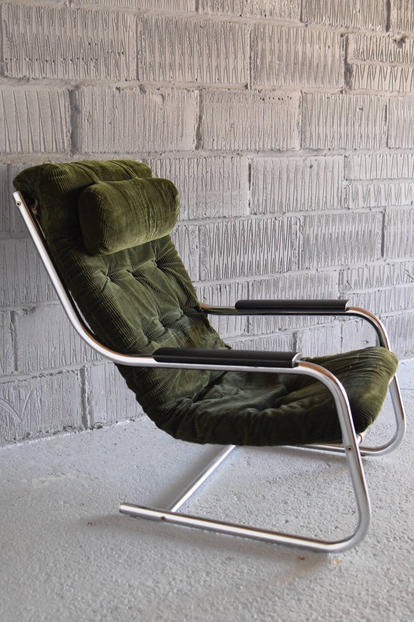 Peachy Vintage Modernist 80S Cantilevered Slingback Chair Bauhaus Gmtry Best Dining Table And Chair Ideas Images Gmtryco