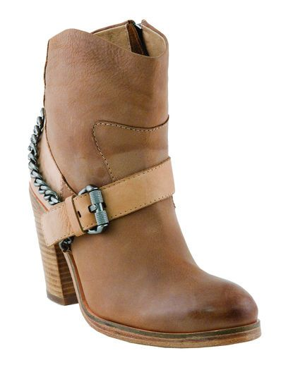 Women's Rachel Chain Harness Ankle Bootie - Taupe
