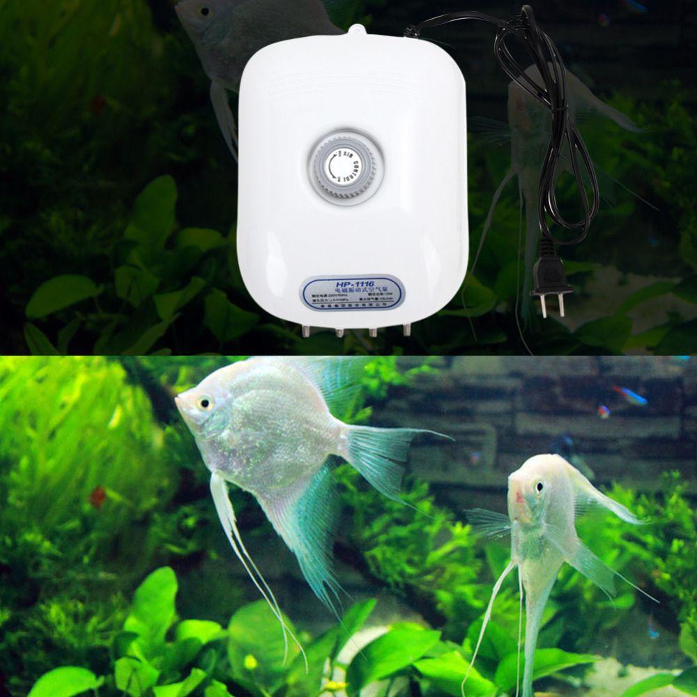 300 Gallonov 0 01 Mpa 300 Gallonov Reguliruemye Tihij Kisloroda Vozdushnyj Nasos Dlya Bolshoj Akvarium Fish Tank Aquarium Air Pump Aquarium Accessories Fish Tank