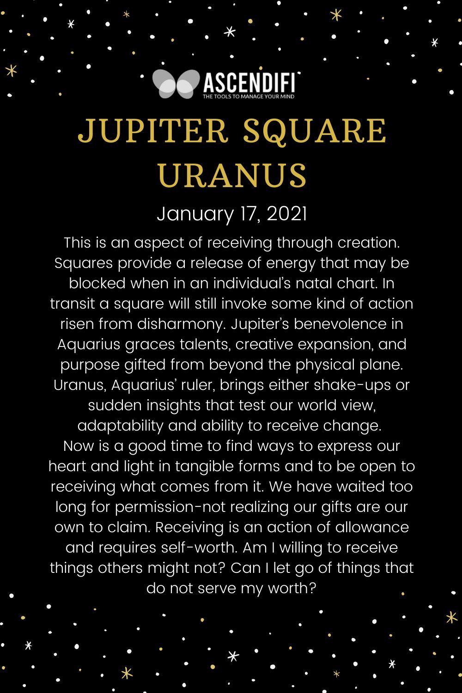 Jupiter Square Uranus