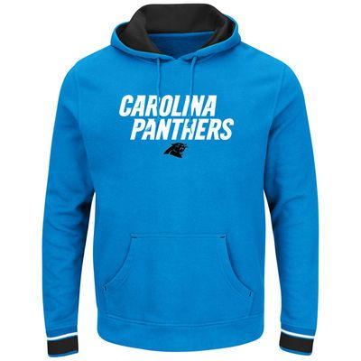 online store bfcf9 c6bd4 Majestic Carolina Panthers Blue Championship Pullover Hoodie ...