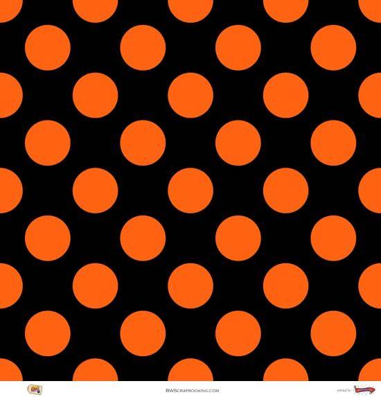 Polka Dots Polka Dots Shades Of Orange Orange Black