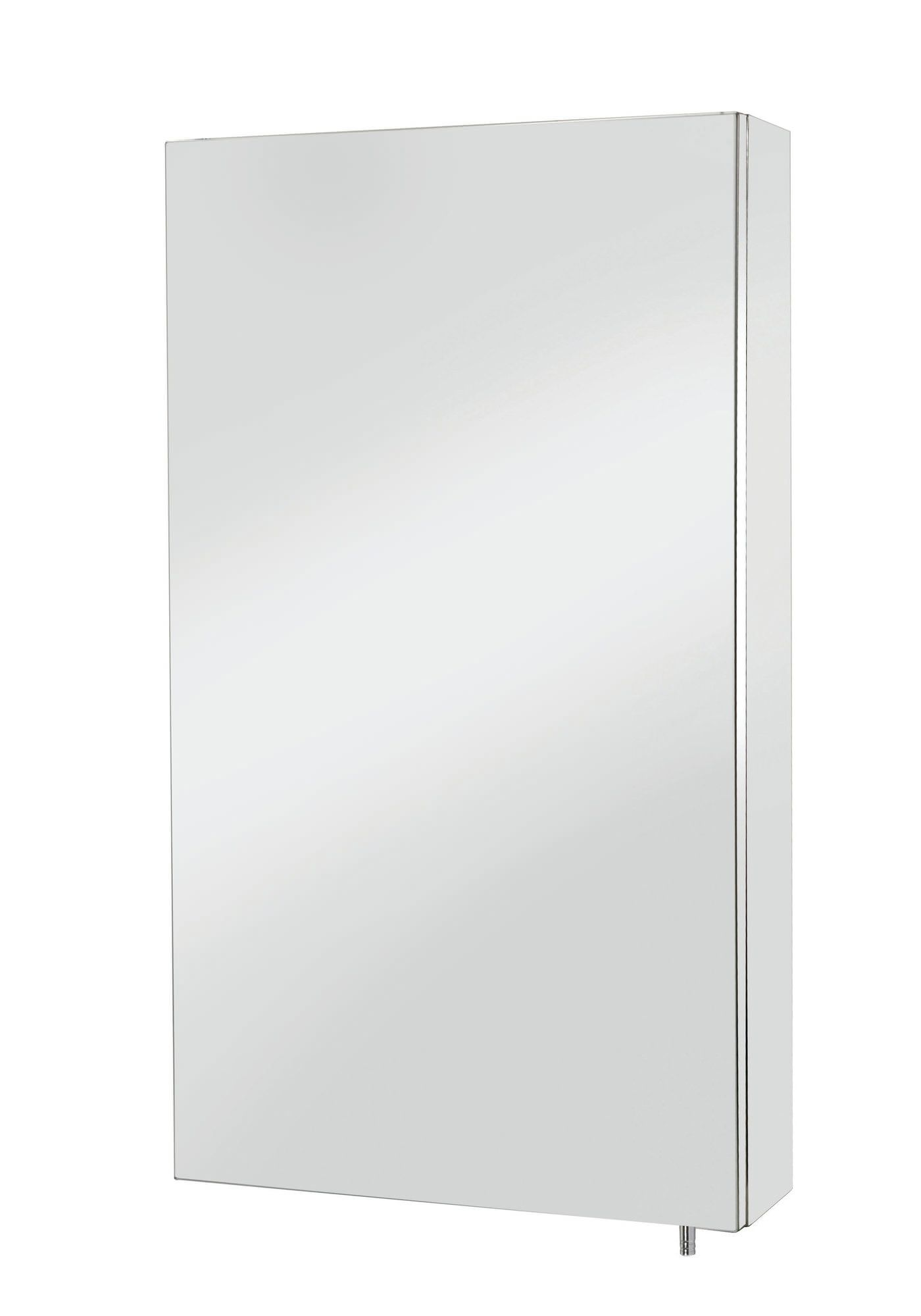 Croydex Anton Stainless Steel Single Door Standard Mirror Cabinet ...
