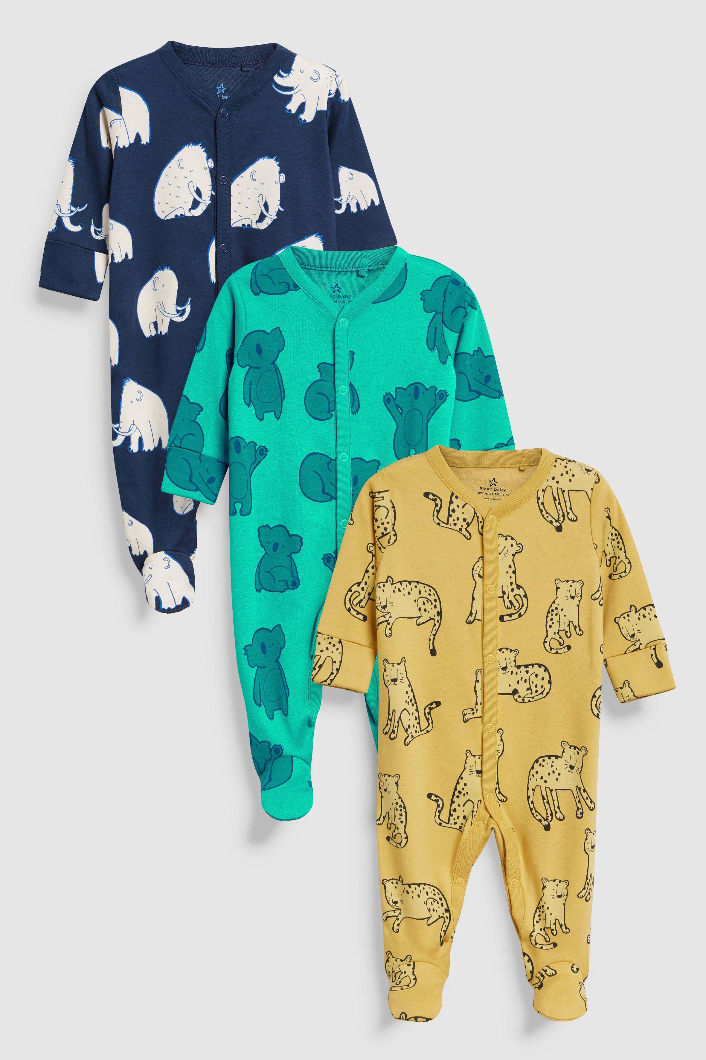 753fc4218 Boys Next Animal Character Sleepsuits Three Pack (0mths-2yrs ...