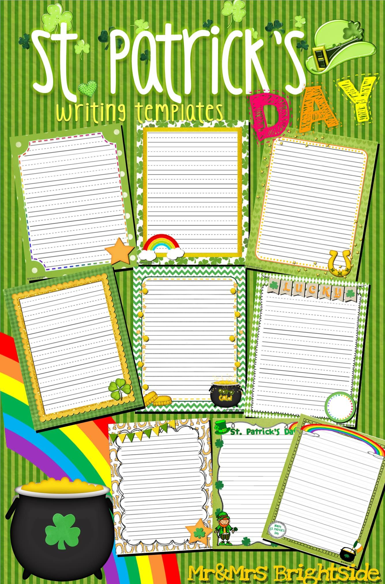 St Patrick S Day Writing Templates Journal