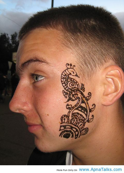 Henna Face Tattoo: Arabic Henna Tattoo Designs On Face 2013 Style