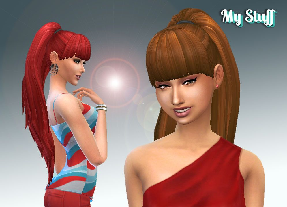 Ariana Ponytail My Stuff Sims 4 Clay And Clayified Hair