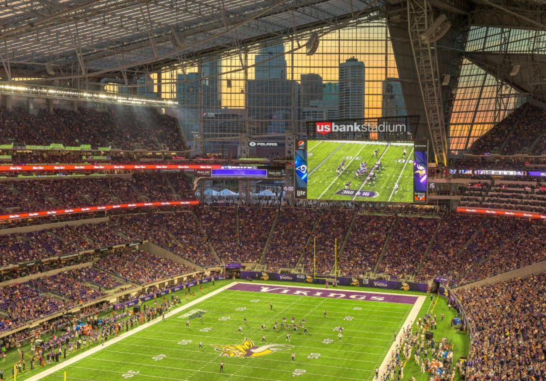Us Bank Stadium Soccer Field Minneapolis Minnesota