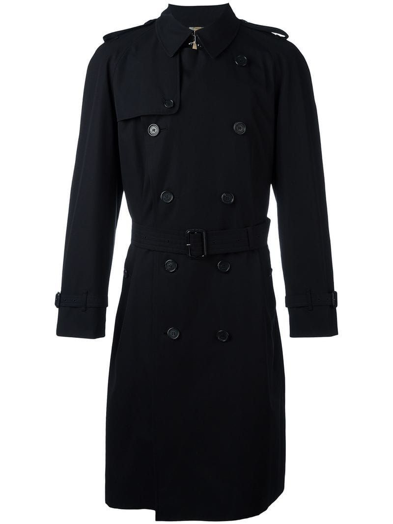 Burberry The Westminster Extra Long Trench Coat Black Fur And Leather Fashion Burberry The Westminster Extra Long Trench Coat Farfetch In 2020 Trenchcoat Manner