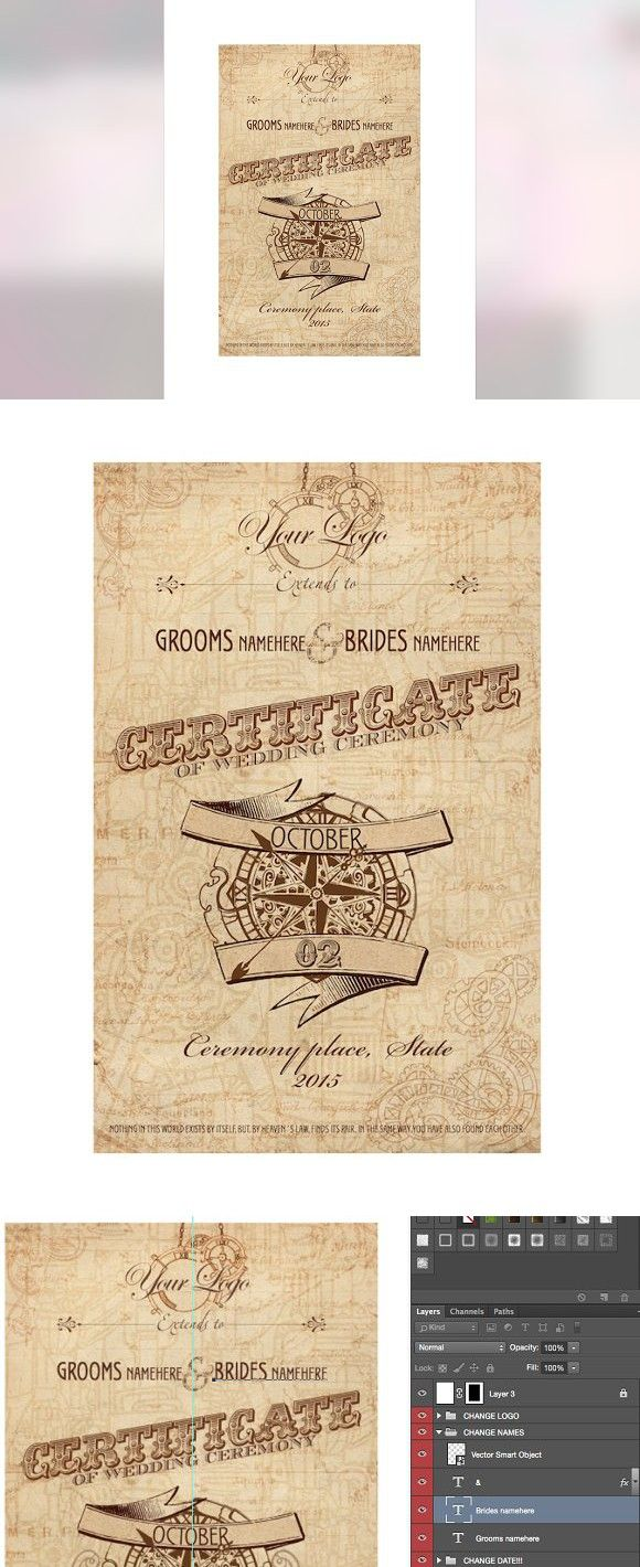 Steampunk wedding certificate psd certificate templates steampunk wedding certificate psd certificate templates yelopaper Images