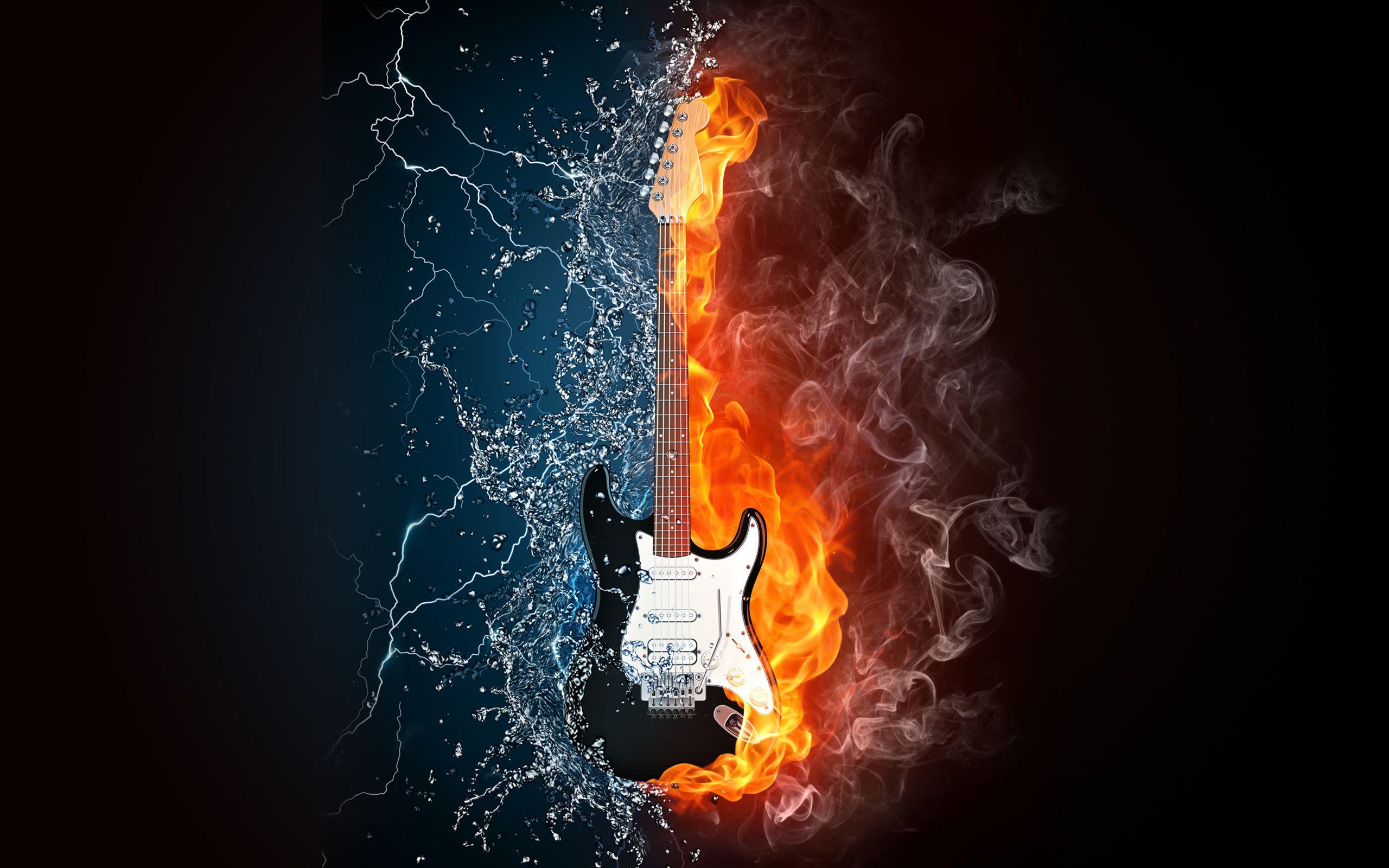 Sfondi chitarra rock