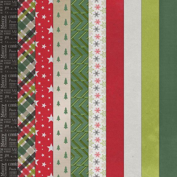 Christmas Spirit Collection Digital Scrapbooking Kit by Sarah Batdorf | ScrapGirls.com