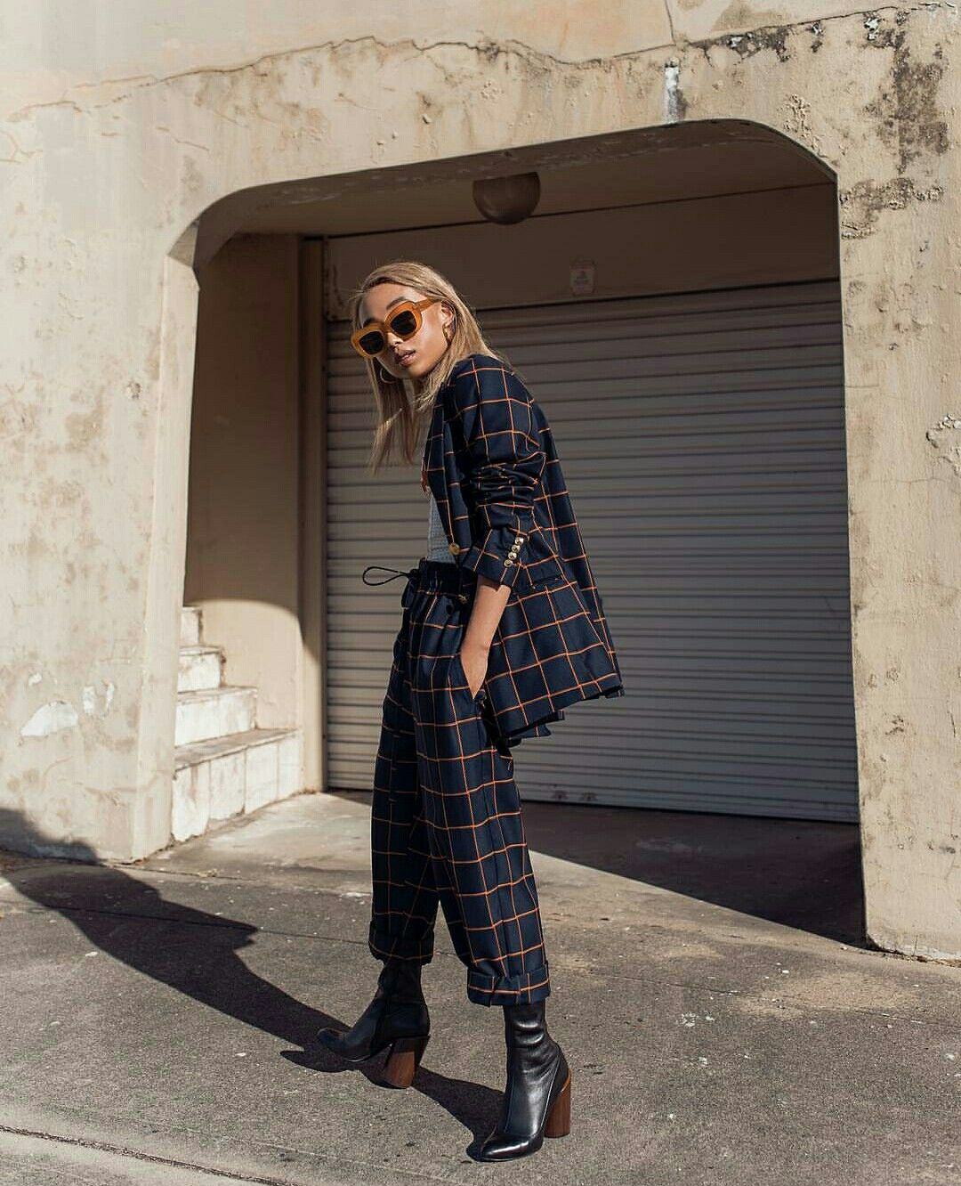 Men's outfits with flannel  Grid suit  the leaping poem  Pinterest