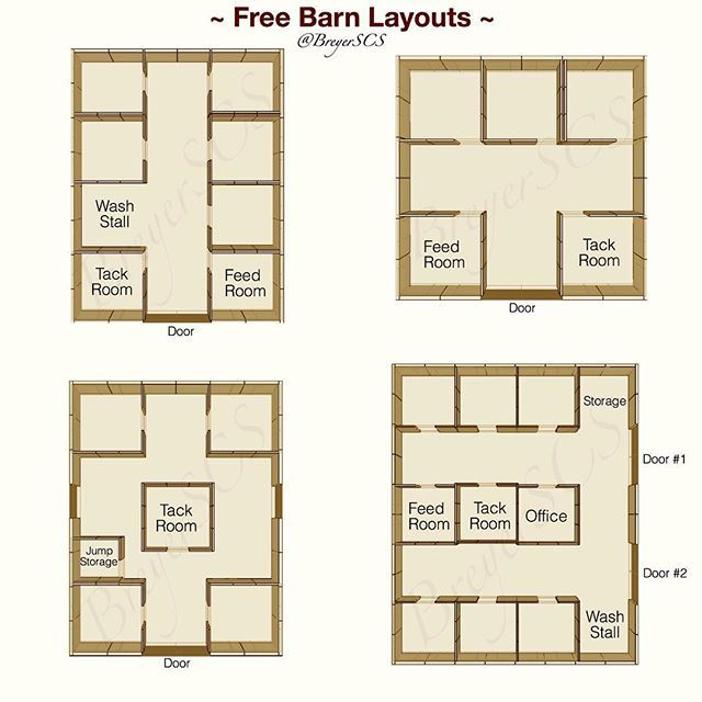 Instagram media breyerscs tutorials free barn layout for Horse barn plans free