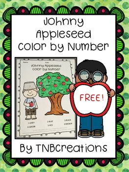 Here Is A Free Johnny Appleseed Color By Number Worksheet A Perfect Activity To Go Along With Your Jo Johnny Appleseed Apple Seeds Johnny Appleseed Activities