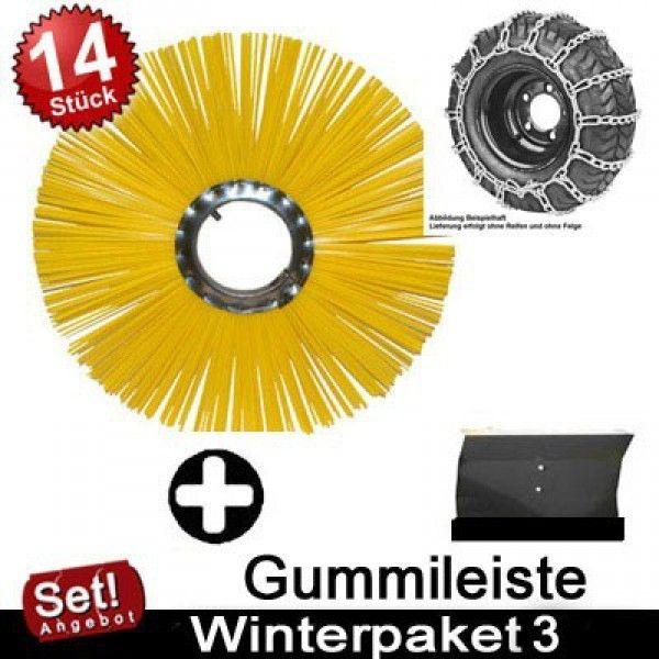 Ersatzbürsten und Gummileiste für Güde Kehrmaschine GKM 5.5 6.5 Winterpaket 3