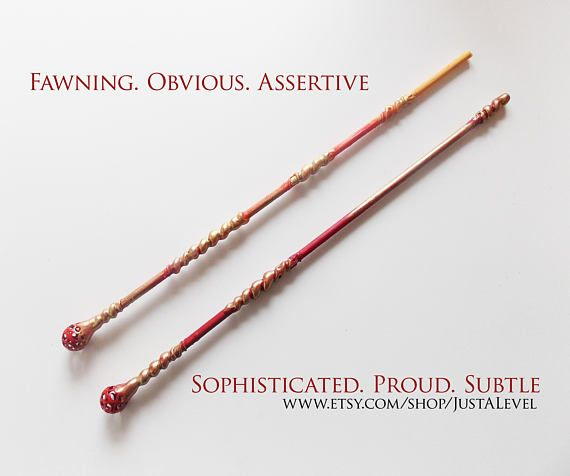 Twin Flame Fiction Inspired Wand, Personality Trait, Light Witch or