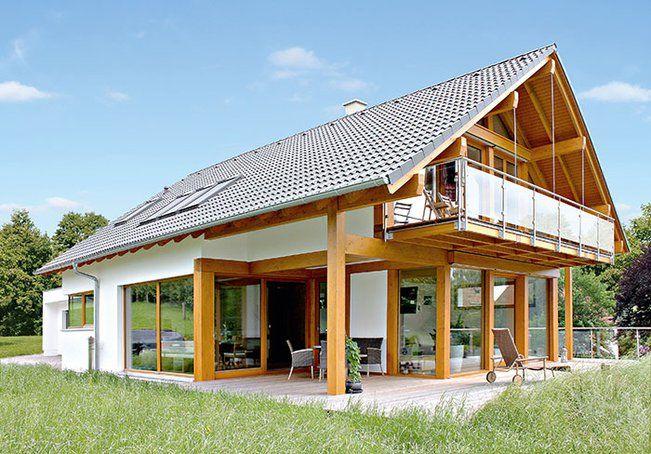 Ein Holzständergerüst Mit Fachwerk U2013 Das Altbewährte Konzept. Es Kombiniert  Moderne Elemente Für Energieeffizientes Wohnen