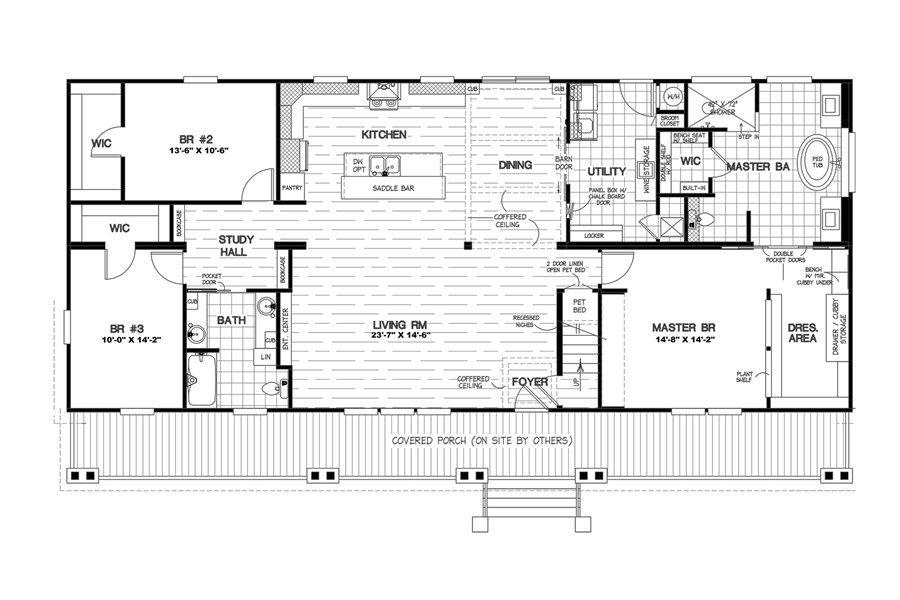 Floorplan Sandollar 58cst32703am Modular Home Plans Mobile Home Floor Plans Rectangle House Plans
