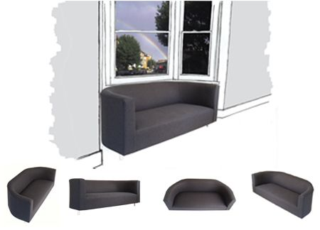 Bay Sofa sketch - very clever sofa for bay window area