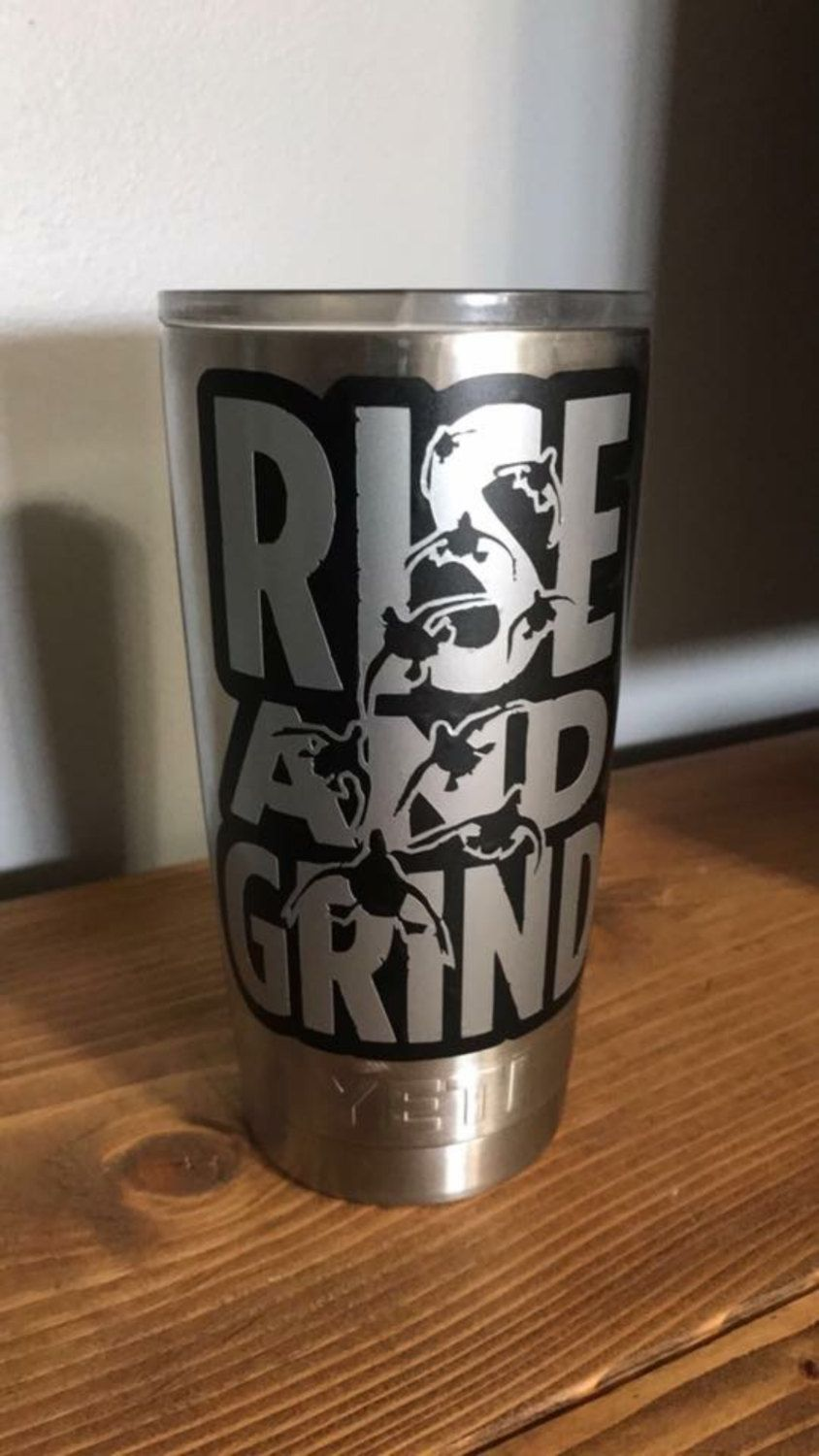 Completely new Waterfowl decal, rise and grind, yeti cup decal, travel cup  KG91