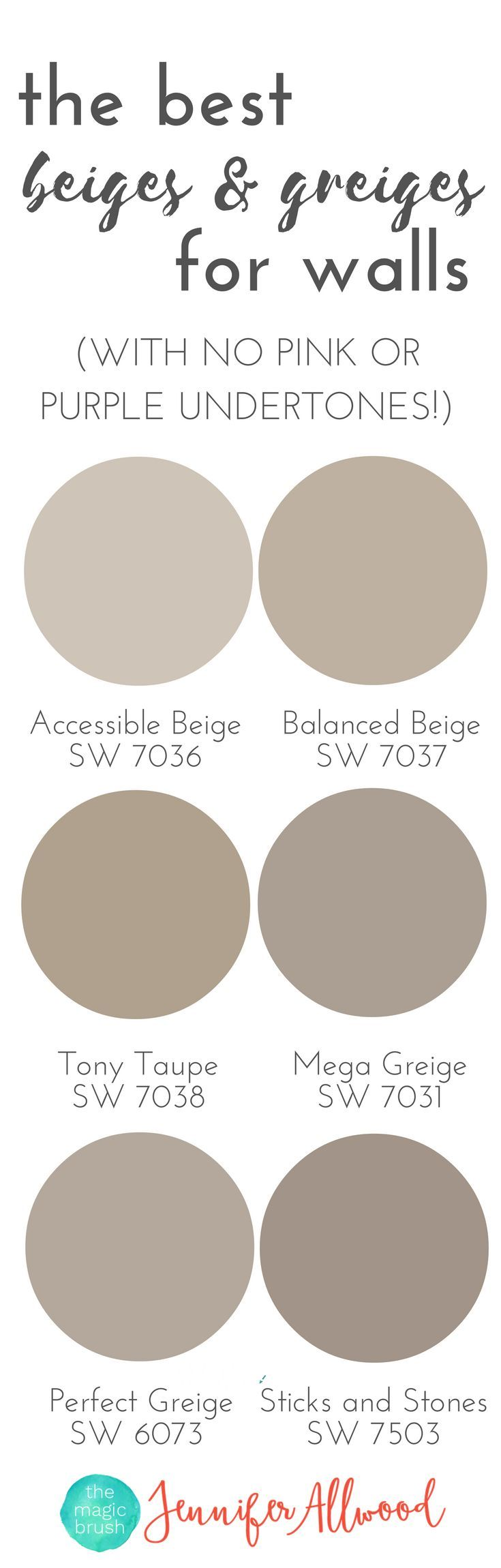 The best beige and greige wall paints for walls magic for Best grey beige paint color