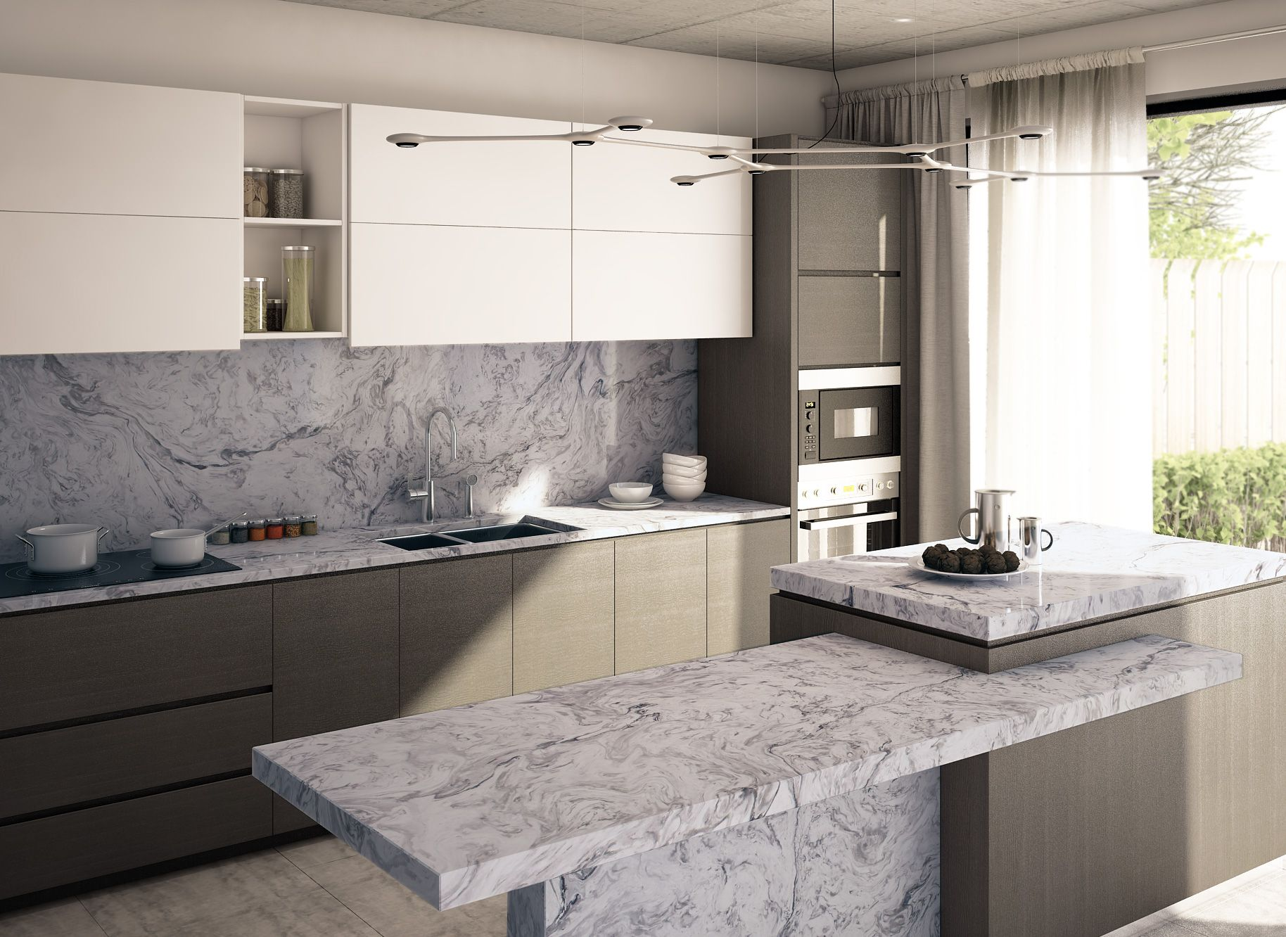 White Fusion. Great for white or grey cabinets - what more ...