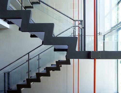 sixtensason:  b22-design: Arne Jacobsen - Rødovre Town Hall - central staircase - 1952-1956