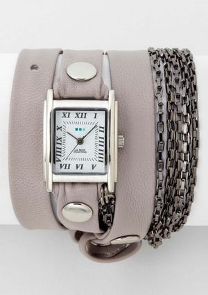 LA MER COLLECTIONS Gunmetal Waterfall Wrap Watch