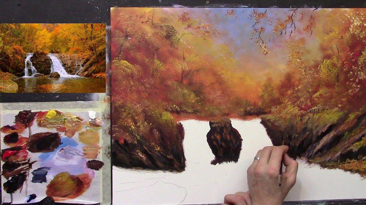 painting autumn scene part 2 #autumnscenes